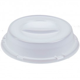 Plastic Dome Lid for Plate PS Translucent Plate Ø23 cm (125 Units)