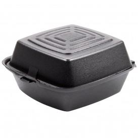 Foam Burger Boxes Take-Out Black 1,50x1,50x0,80cm (125 Units)