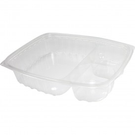 "Plastic Deli Container OPS ""ClearPac"" 3 Compartments Clear 887ml (252 Units)"