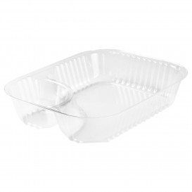 "Plastic Deli Container Clear 2C 565ml ""Nachos"" (500 Units)"