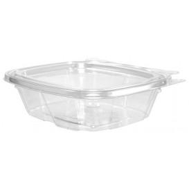 Plastic Deli Container PET Tamper-Evident Dome Lid Flat 240ml (100 Units)