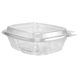 Plastic Deli Container PET Tamper-Evident High Dome Lid 240ml (200 Units)