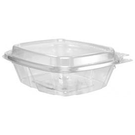 Plastic Deli Container PET Tamper-Evident High Dome Lid 240ml (100 Units)
