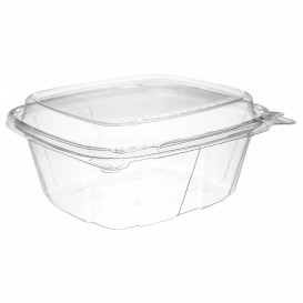 Plastic Deli Container PET Tamper-Evident High Dome Lid 355ml (100 Units)