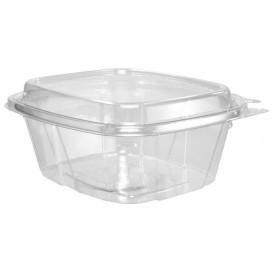 Plastic Deli Container PET Tamper-Evident High Dome Lid 475ml (200 Units)