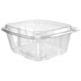 Plastic Deli Container PET Tamper-Evident High Dome Lid 950ml (200 Units)