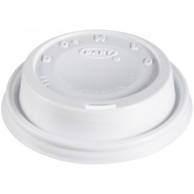 "Plastic Lid PS ""Cappuccino"" White Ø8,1cm (100 Units)"