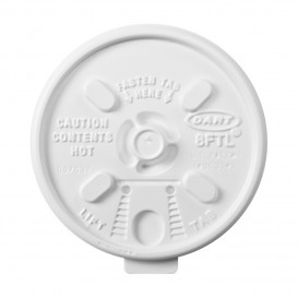 Plastic Lid PS Resealable White Ø8,1cm (100 Units)