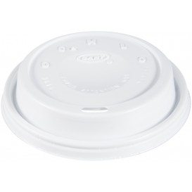 "Plastic Lid PS ""Cappuccino"" White Ø9,4cm (100 Units)"