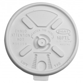 Plastic Lid PS Resealable White Ø9,4cm (1000 Units)