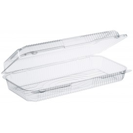 """Plastic Hinged Deli Container OPS """"StayLock"""" Clear 1485ml (100 Units)"""