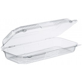 """Plastic Hinged Deli Container OPS """"StayLock"""" Clear 1065ml (125 Units)"""