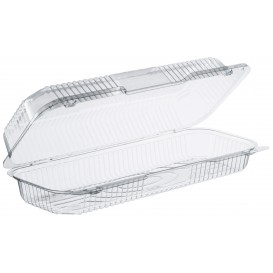 """Plastic Hinged Deli Container OPS """"StayLock"""" Clear 770ml (125 Units)"""