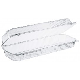 """Plastic Hinged Deli Container OPS """"StayLock"""" Clear 1310ml (125 Units)"""