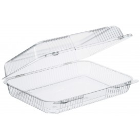 """Plastic Hinged Deli Container OPS """"StayLock"""" Clear 1430ml (125 Units)"""