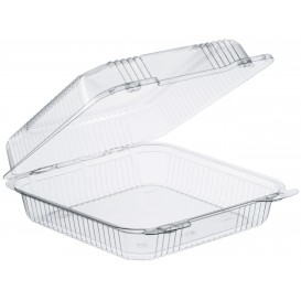 """Plastic Hinged Deli Container OPS """"StayLock"""" Clear 1120ml (100 Units)"""
