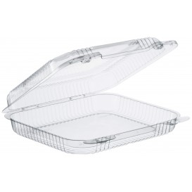 """Plastic Hinged Deli Container OPS """"StayLock"""" Clear 730ml (125 Units)"""