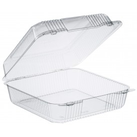 """Plastic Hinged Deli Container OPS """"StayLock"""" Clear 2240ml (125 Units)"""
