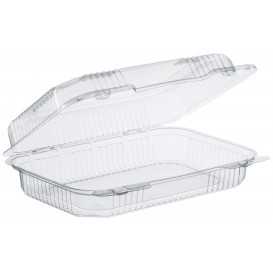 """Plastic Hinged Deli Container OPS """"StayLock"""" Clear 1080ml (250 Units)"""