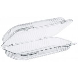 """Plastic Hinged Deli Container OPS """"StayLock"""" Clear 440ml (250 Units)"""