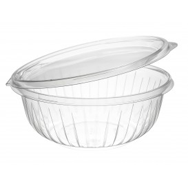 "Plastic Hinged Salad Bowl PET ""PresentaBowls"" Flat 950ml (150 Units)"