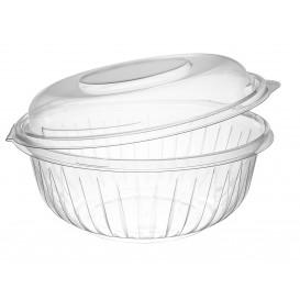 "Plastic Hinged Salad Bowl PET ""PresentaBowls"" High Dome Lid 950ml (75 Units)"