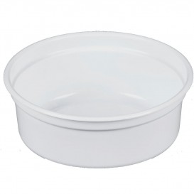 "Plastic Deli Container PP ""Deli"" 8Oz/266ml White Ø12cm (500 Units)"