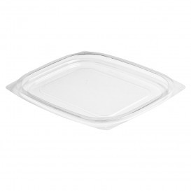 Plastic Lid for Deli Container OPS Flat Clear 237/355/473ml (1008 Units)