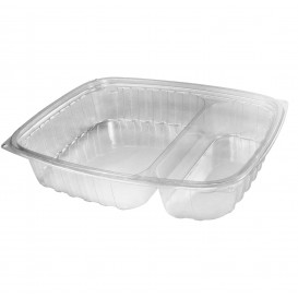 "Plastic Deli Container OPS ""ClearPac"" 2 Compartments Clear 887ml (63 Units)"