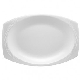 "Foam Tray ""Quiet Classic"" White 23X18cm (500 Units)"