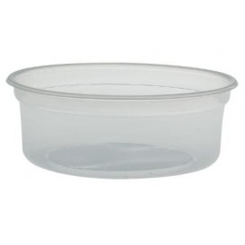 "Plastic Deli Container PP ""Deli"" 8Oz/266ml Clear Ø12cm (25 Units)"