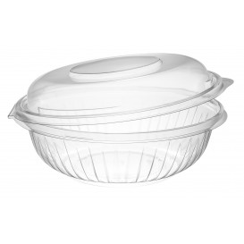 "Plastic Hinged Salad Bowl PET ""PresentaBowls"" High Dome Lid 710ml (150 Units)"
