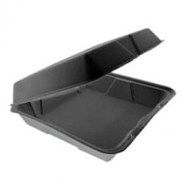 Foam Baguette Container Removable Lid Black 2,40x2,35cm (200 Units)