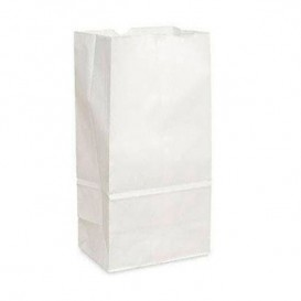 Paper Bag without Handle Kraft White 12+8x24cm (25 Units)