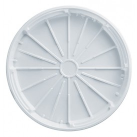 Plastic Lid PS for Pizza White 32 cm (100 Units)