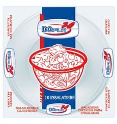 Plastic Bowl PS Clear 2000ml Ø22cm (10 Units)