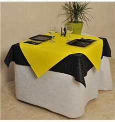 Pre-Cut Paper Tablecloth Yellow 40g 1x1m (400 Units)