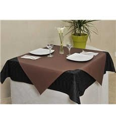 Pre-Cut Paper Tablecloth Brown 40g 1x1m (400 Units)
