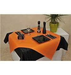 Pre-Cut Paper Tablecloth Orange 40g 1x1m (400 Units)
