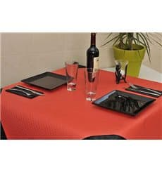 Pre-Cut Paper Tablecloth Red 40g 1x1m (400 Units)