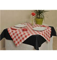 Pre-Cut Paper Tablecloth Red Checkers 37g 1x1m
