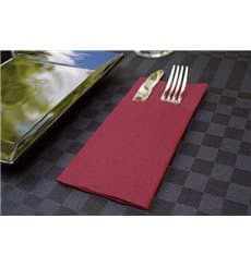 "Pocket Fold Airlaid Napkins ""Kanguro"" Burgundy 40x40cm (30 Units)"