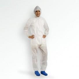 "Disposable Plastic Coverall ""TST"" PP Hood Zipper 35g Size M (1 Unit)"