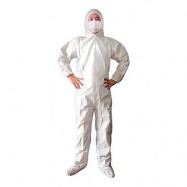 "Disposable Plastic Coverall ""TST"" PP Hood Zipper Size XL (1 Unit)"