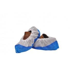 Cubrezapatos TST de PP Blanco con Suela Reforzada CPE Azul (500 Uds)