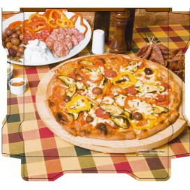 "Corrugated Pizza Box ""Al Bassanello Tavola"" 33x33x4,2cm (100 Units)"