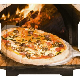 Corrugated Pizza Box Al Bassanello Pala 40x40x4,2cm (100 Units)