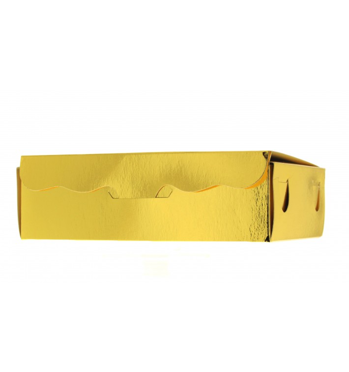 Paper Bakery Box Gold 11x6,5x2,5cm 100g (100 Units)