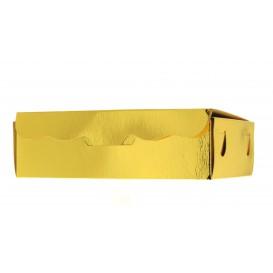 Paper Bakery Box Gold 17x10x4,2cm 500g (50 Units)