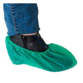 Disposable Plastic Shoe Covers PE G80 Green (100 Units)